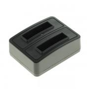 Polnilec za baterijo Fuji NP-50 / Kodak KLIC-7004 / Pentax D-Li68 / D-Li122, MicroUSB, dvojni