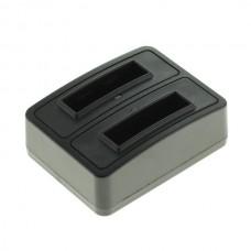 Polnilec za baterijo Nikon EN-EL19, MicroUSB, dvojni