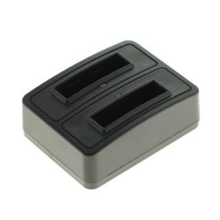 Polnilec za baterijo Olympus LI-50B / Pentax D-Li92 / Ricoh DB-100 / LB-050, MicroUSB, dvojni