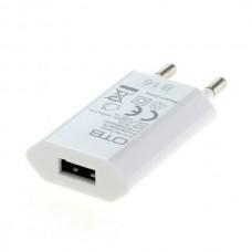 Polnilec / adapter USB, univerzalni, slim, 1A