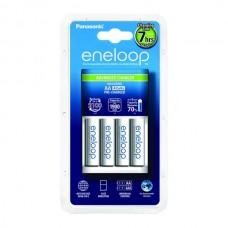 Polnilec za baterije NiMH Panasonic BQ-CC17 in 4 baterije Eneloop AA