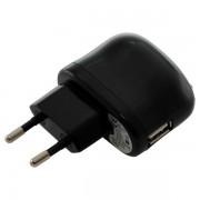 Polnilec / adapter USB, univerzalni, črn, 2.1A