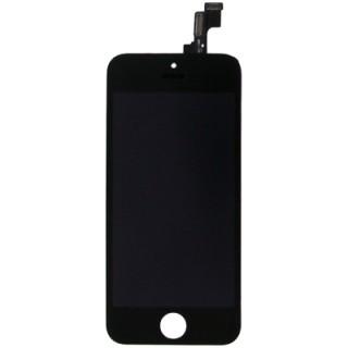 Steklo in LCD zaslon za Apple iPhone 5S, črno