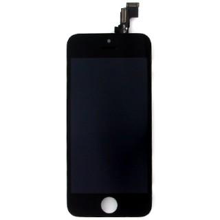 Steklo in LCD zaslon za Apple iPhone 5C, črno