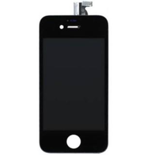 Steklo in LCD zaslon za Apple iPhone 4S, črno
