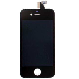 Steklo in LCD zaslon za Apple iPhone 4, črno