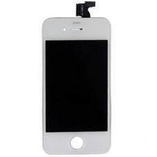 Steklo in LCD zaslon za Apple iPhone 4, belo