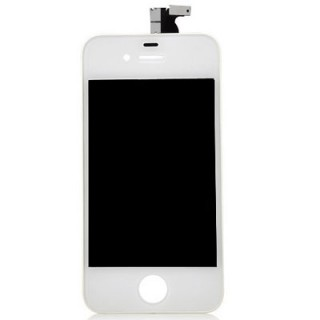 Steklo in LCD zaslon za Apple iPhone 4S, belo