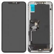 Steklo in LCD zaslon za Apple iPhone XS Max, črno