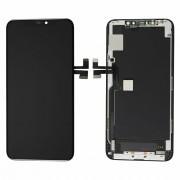 Steklo in LCD zaslon za Apple iPhone 11 Pro Max, črno