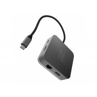 Adapter multiport 6in1 iz USB-C na USB-C, 3x USB-A, HDMI, Ethernet