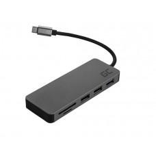 Adapter multiport iz USB-C na USB-C, HDMI, USB-A, SD, MicroSD