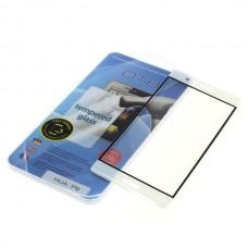 Kaljeno zaščitno steklo za Huawei P9, Full Cover 3D, belo