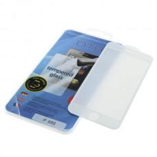 Kaljeno zaščitno steklo za iPhone 6 / 6S, Full Cover 3D, belo