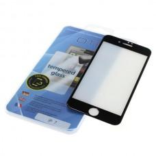 Kaljeno zaščitno steklo za iPhone 7, Full Cover 3D, črno
