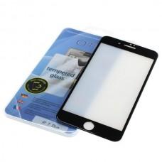 Kaljeno zaščitno steklo za iPhone 7 Plus, Full Cover 3D, črno