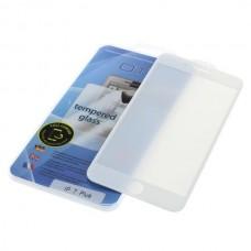 Kaljeno zaščitno steklo za iPhone 7 Plus, Full Cover 3D, belo
