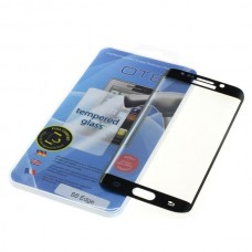 Kaljeno zaščitno steklo za Samsung Galaxy S6 Edge, Full Cover 3D, črno