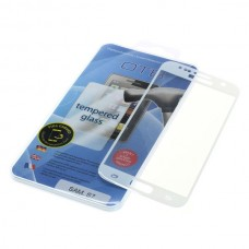 Kaljeno zaščitno steklo za Samsung Galaxy S7, Full Cover 3D, belo