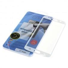 Kaljeno zaščitno steklo za Samsung Galaxy S7 Edge, Full Cover 3D, belo