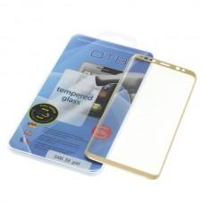 Kaljeno zaščitno steklo za Samsung Galaxy S8, Full Cover 3D, zlato