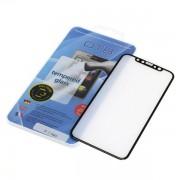 Kaljeno zaščitno steklo za iPhone X / XS, Full Cover 3D, črno