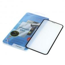Kaljeno zaščitno steklo za iPhone XR, Full Cover 3D, črno