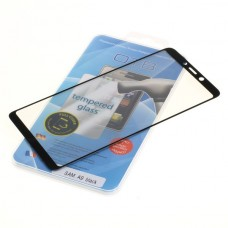 Kaljeno zaščitno steklo za Samsung Galaxy A9, Full Cover 3D, črno