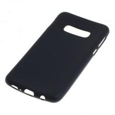 Silikonski ovitek za Samsung Galaxy S10E, črn