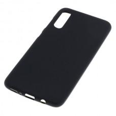 Silikonski ovitek za Samsung Galaxy A70, črn