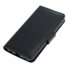 OTB preklopna torbica za Samsung Galaxy A40 iz umetnega usnja, črna