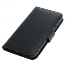 OTB preklopna torbica za Huawei Y6 (2019) iz umetnega usnja, črna