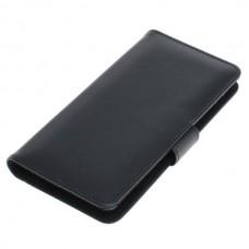 OTB preklopna torbica za Sony Xperia 5 iz umetnega usnja, črna