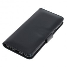 OTB preklopna torbica za Samsung Galaxy A20s iz umetnega usnja, črna