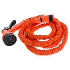 Raztegljiva cev za zalivanje, oranžna, 7,5m