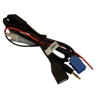 Adapter iz USB na AUX za Audi / Seat / Škoda / VW, z napajanjem
