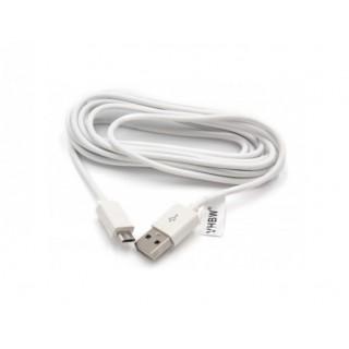 Podatkovni kabel iz USB-A na MicroUSB 2.0, bel, 3.0 m